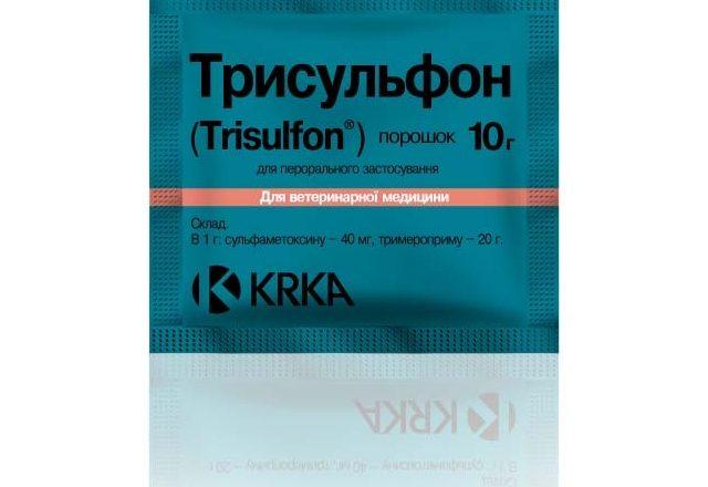 Προετοιμασία Τρισουλφόνη για τη θεραπεία ασθενειών σε κουνέλια